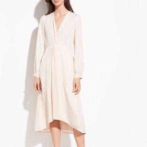 Vince Twist Drape Long Sleeve Dress 829
